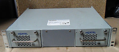 NORTEL RPSU15 CHASSIS WITH Two Off RPS15 PSU 600 WATT POWER PACKS.+ CABLES