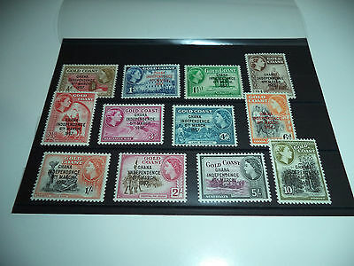 Ghana Independence Nice Collection Complete To 10 Shillings Mint++