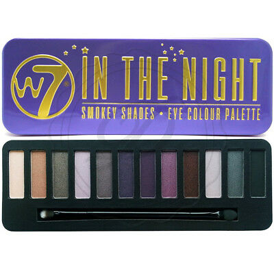 W7 Eyeshadow Palette - In The Night - With Applicator Makeup
