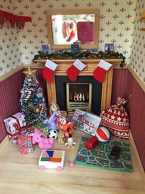 Dolls house miniature 12th scale - Christmas presents/toys decoration set
