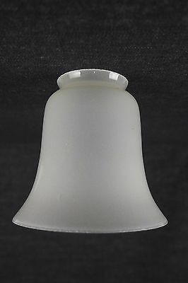 "Antique Vintage Light Shade 2-1/4"" Fitter Hand Blown Frosted Tulip"