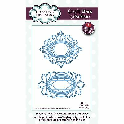 Craft Dies by Sue Wilson - Pacific Ocean Collection - Tag Duo (CED12003)