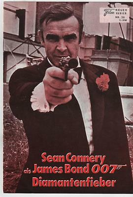 DIAMANTS SONT ETERNELS Sean Connery JAMES BOND Film-Kurier 1971