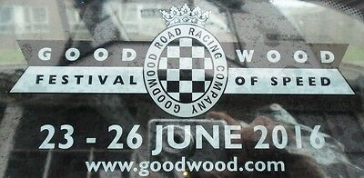 Official 2016 Goodwood Festival Of Speed Sticker Decal New And Unpeeled
