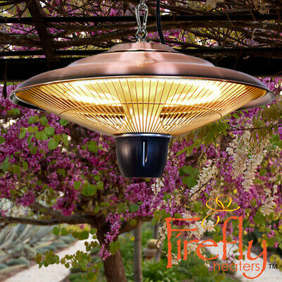 Ceiling Hanging Electric Heater Halogen Patio Infrared Copper 1.5KW Outdoor