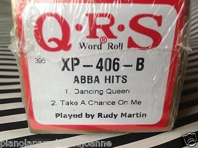 ABBA HITS  1:  Dancing Queen: Take A Chanc NEW L/ PLAY PIANOLA PLAYER PIANO ROLL