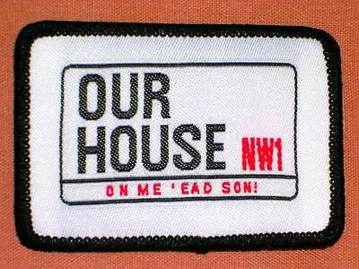 Our House Madness Musical - Official Woven Cloth Patch - Suggs Stiff 2 Tone