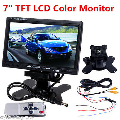 "7.0"" Color TFT LCD Screen 2 Video Input Car Rear View Headrest DVD VCR Monitor"