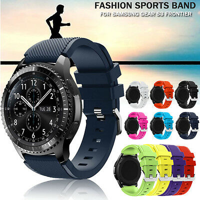 Fashion Sports Soft Silicone Bracelet Strap Band For Samsung Gear S3 Frontier UK