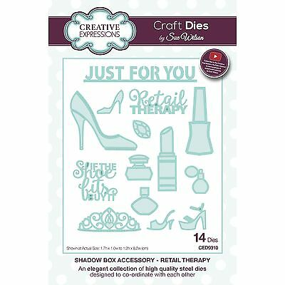 Craft Dies by Sue Wilson - Shadow Box Collection - Retail Therapy (CED9310)