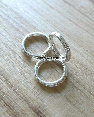 Split Rings Jump Connector For Charms Clasp Counter Sterling Silver 925 7 MM (4