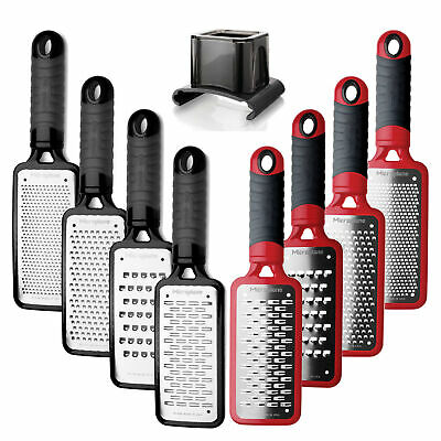 Microplane Home Series Graters - Fine/Coarse/Ribbon/Extra Coarse - Black / Red