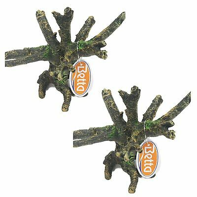 Aquarium Ornament Tree Root XS Detailed & Realistic   Pack Of Two