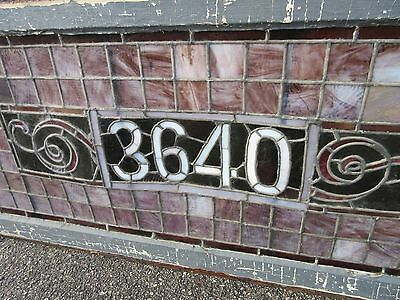 Antique Large Stained Glass Window Address 53""