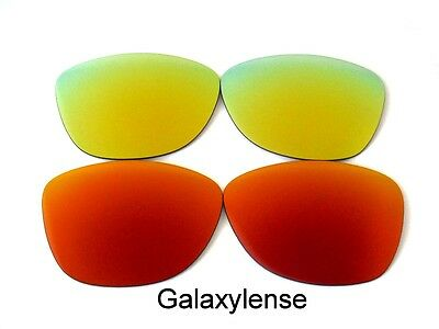 Galaxy Replacement Lenses For Oakley Frogskins Red&Gold Polarized 2 Pairs