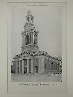 The Fort Washington Presbyterian Church, New York, NY, 1917, Lithograph