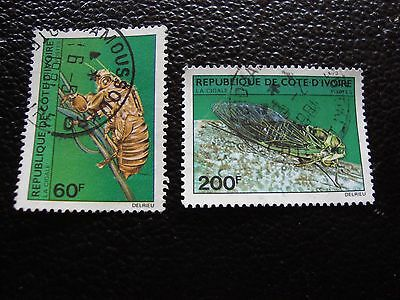 COTE D IVOIRE - timbre yvert/tellier n° 553 554 obl (A28) stamp