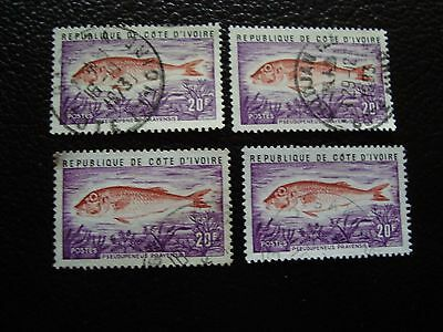 COTE D IVOIRE - timbre yvert/tellier n° 355 x4 obl (A28) stamp