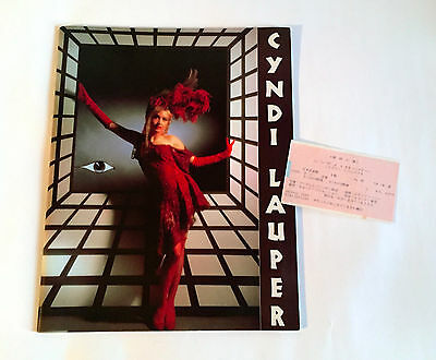 CYNDI LAUPER True Colors World Tour 86-87 JAPAN CONCERT PROGRAM BOOK w/Ticket