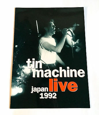 TIN MACHINE JAPAN LIVE 1992 CONCERT TOUR PROGRAM BOOK David Bowie