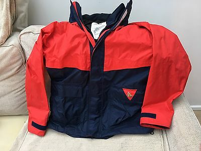 X M Offshore Waterproof Sailing Jacket Red Blue