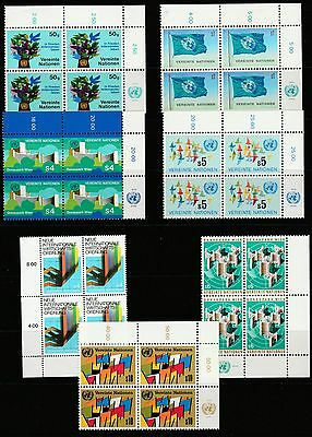 Unmounted Mint Stamps United Nations Geneva in Blocks. 1979 to 1980.