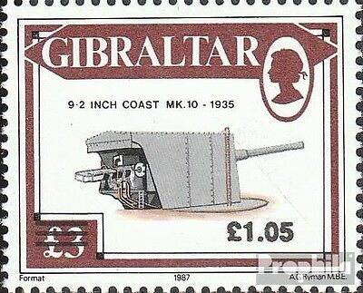 Gibraltar 623 (complete issue) unmounted mint / never hinged 1991 guns