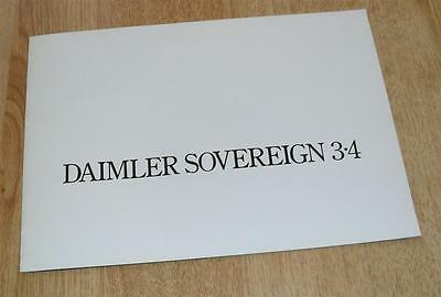 UK Daimler Sovereign 3.4 Saloon Sales Brochure 1975