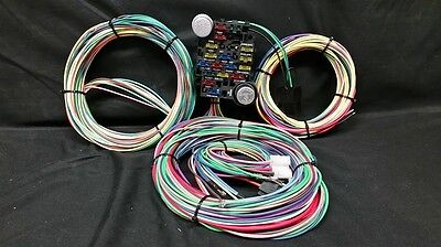 12 circuit universal wire harness muscle car hot rod street rod ez wiring harness 21 circuit street rod wiring harness