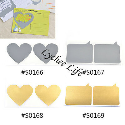 10 Pcs Scratch Off Stickers for Post Card Greeting Cards Self Adhesive Free Post
