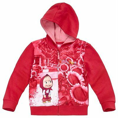 Girls Official Licensed Masha And The Bear Sweatshirt Hoodie Top