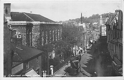 POSTCARD    KENT    CHATHAM   Railway  Street  from  Viaduct    RP