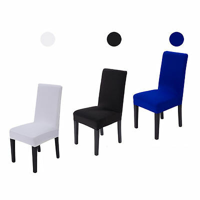 2/4/6pcs Dining Lycra Spandex Chair Seat Cover Removable Stretch Slipcovers