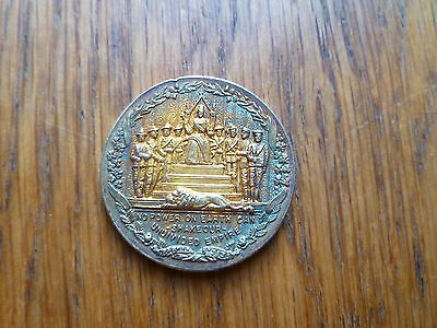 Boer War Medal, Silver Gilt 1899-1900, No Power On Earth Can Shake Our Undivided