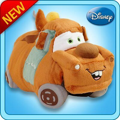 "New Pillow Pets Authentic Disney-Cars 18"" Tow Mater, Folding Plush Pillow- Large"