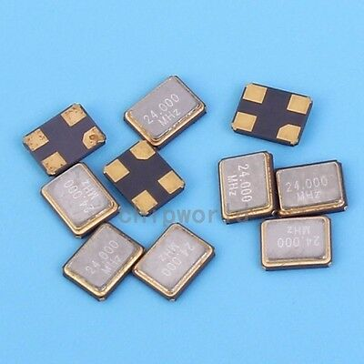 10pcs 3225 2.4GHz SMD Passive Crystal Oscillator 2400MHz 4 Pin +/-20PPM 20PF