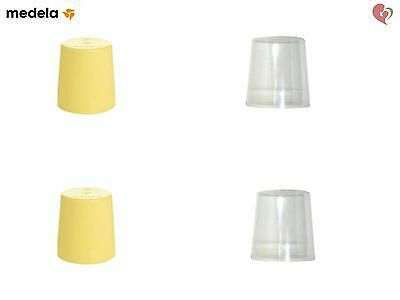 MEDELA BREAST MILK STORAGE BOTTLE CAPS FOR STANDARD WIDE CAP WIDE BASE NIPPLE x2
