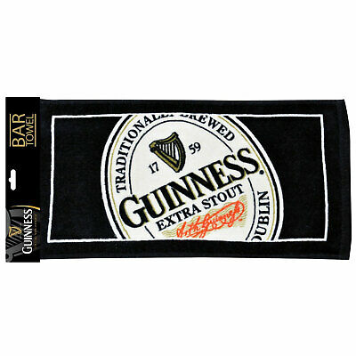 Guinness Bar Towel Black