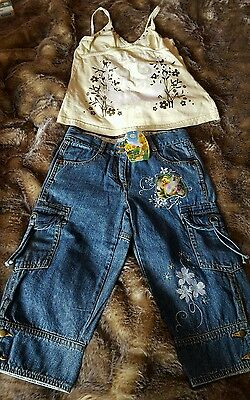Girls Disney Tinkerbell Shorts and Top