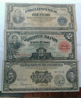 1945 Philippines Banknotes. Vg