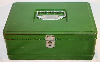 Vintage Climax Green Tin Cash Box Old Hamilton OH Metal Products