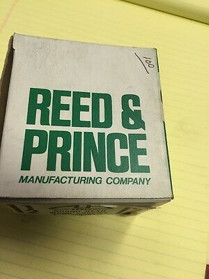 Vintage REED & PRINCE #12 X 1 1/2 In Round Head SLOTTED Wood Screws 100 PER box