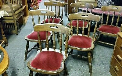 Vintage oak Pub/ dining chairs set of 6