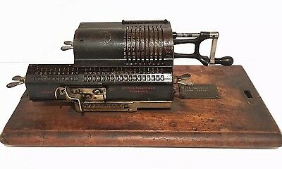 Antique Arithmometer Pin-Wheel Calculator Grimme, Natalis & Co Brunswick Germany
