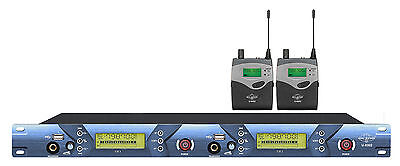 Professional UHF Wireless In Ear Monitoring System 2CH Transmitter 2 Receivers