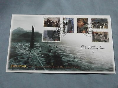 Autograph Signed Lord Of The Rings Two Towers First Day Cover Christopher Lee 2