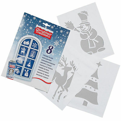 Christmas decoration stencils (8 pack)