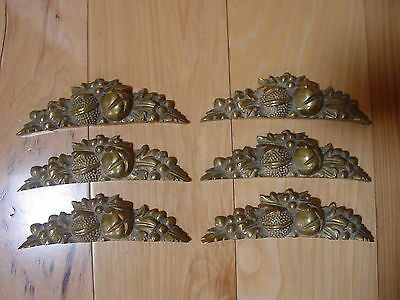 6 Vintage Brass Architectural Door Topper Hardware Wall Decor Natural