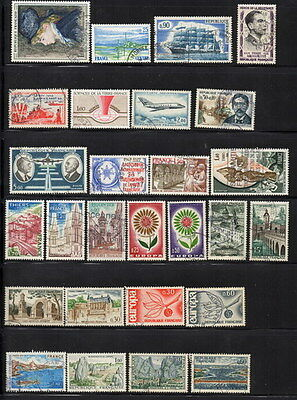 Stamps France Selection of used minor duplication
