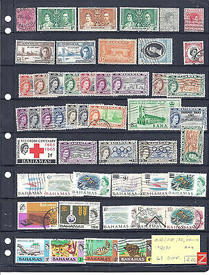 BAHAMAS on 2 pgs...# 50/580, B2 & MR11-12...1912/85...Sm Coll of 63 Diff...M & U